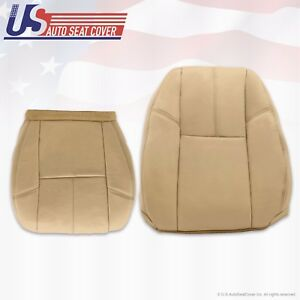 2010 2011 2012 Chevy Silverado Passenger Bottom lean Back Leather Seat Cover Tan