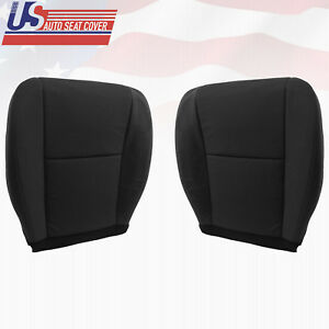 2010 2013 Chevy Avalanche Driver Passenger Side Bottom Cloth Seat Cover Black