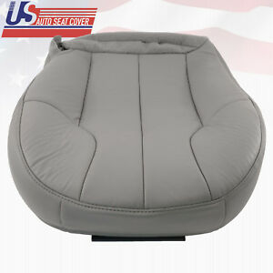 1999 2001 Jeep Grand Cherokee Driver Bottom Replacement Leather Seat Cover Gray
