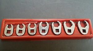 Snap On Matco 3 8 Drive 7 Pc 6 Point Flare Nut Crowfoot Wrench Set 3 8 3 4
