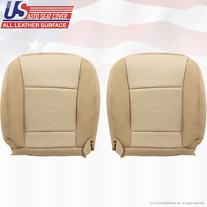 2009 Ford Explorer Driver Passenger Bottom Leather Seat Cover Two tone Tan