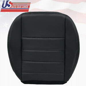 2009 Dodge Charger V6 V8 Driver Bottom Replacement Leather Seat Cover Dark Gray