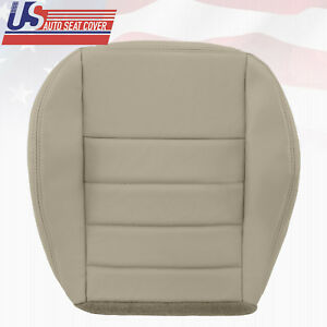 2009 Dodge Charger Front Driver Side Bottom Leather Replacement Seat Cover Gray