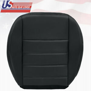 2008 2009 2010 Dodge Charger Passenger Side Bottom Leather Seat Cover Dark Gray