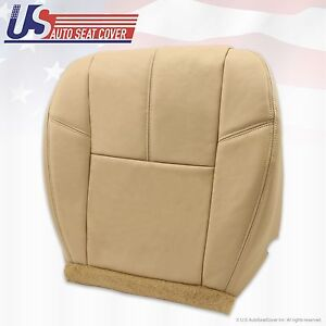 2007 To 2012 Chevy Silverado Driver Bottom Leather Seat Cover Tan 333 Cashmere