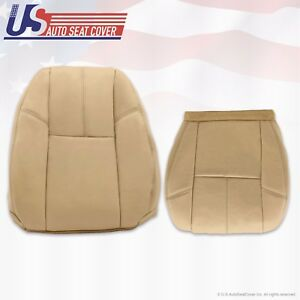 2011 2012 Chevy Silverado 1500 Driver Bottom Lean Back Leather Seat Cover Tan