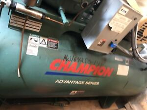 Champion 10 Hp 3 Phase 120 Gallon Hr10 12 Advantage Series Air Compressor Used