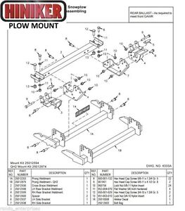 Hiniker Snowplow Mount Dodge Ram 08 12 4500 5500 Quick Hitch 2 25012874