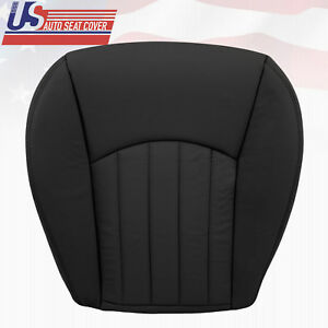 2003 Jaguar X Type Passenger Bottom Leather Replacement Seat Cover Black