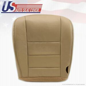 02 To 07 Ford F250 Lariat Driver Heated Bottom Leather Seat Cover Parchment Tan