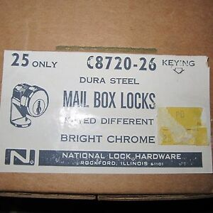 National C8720 Mail Box Lock Keys 5 pin Tumbler Dura Steel new Box Of 25