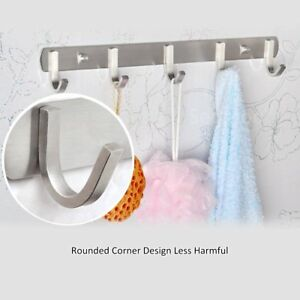 Szat Quality Solid Stainless Steel Wall Mounted 4 hook 5 hook Clothes Hat Rack