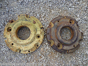 John Deere 320 330 40 420 430 Front Wheel Weight M1168t Rare Set 2