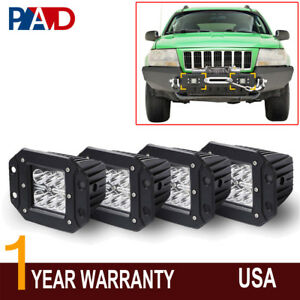 1999 2004 Jeep Grand Cherokee Wj Offroad Front Bumper Led Lights Flush Mount 4pc