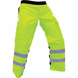 Forester Chainsaw Safety Chaps With Pocket Apron Style 37 Safety Green
