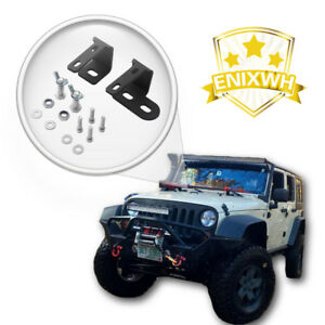 Off Road Hi Lift Jack Mount Hood Bracket Fit 2007 2017 Jeep Wrangler Jk Hood