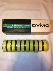 10 Rolls Dymo Labeling Tape 1 2 X 252 Stainless Steel Tapewriter Embossing