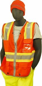 Majestic Glove 75 3226 High Visibility Mesh Vest With D ring Pass Thru 4 New