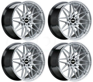 18x9 5 Vmr V801 5x112 45 Hyper Silver Wheels Rims Set 4