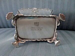 Gorham Tea Caddy Georgian Pierre Gillois London 1756 Repro Sterling Silver 925