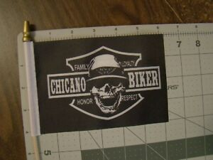 Chicano Biker Flag Car Truck 4x6 Inch Flag License Plate Topper Flag Biker Fla