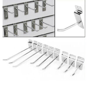 Pack Of 10pcs Metal Organizer Rack For Pegboard Panel Display Hooks For Gridwall