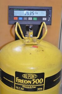 Dupont Freon R 500 500 Refrigerant 50lb Cylinder Partial 39 35 Lbs Gross Weight