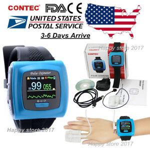 Wrist Pulse Oximeter Fingertip Spo2 Probe Sleep Heart Rate Monitor Cms50f Usa
