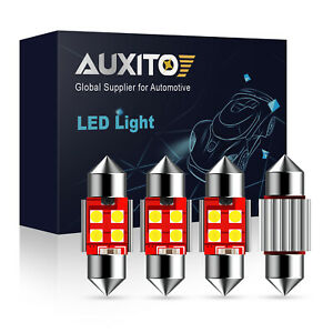 Auxito Canbus 4x 31mm Festoon De3175 Led Map Dome Interior Light Bulbs 6000k