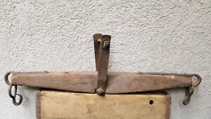 Vintage Antique Oxen Horse Cow Yoke Primitive Cast Iron Farm Barn Single Tree