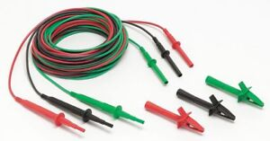Fluke Tl1550b Test Lead Set With Alligator Clips Red black green
