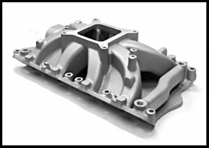 Ford 351 W 351w Windsor Satin Intake Manifold Single Plane Pce 147 1052