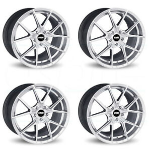 18x8 Vmr V804 5x112 42 Super Silver Wheels Rims Set 4