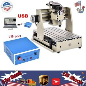 Usb 4 Axis Cnc 3020 Router Engraving Drill Mill Diy Metal 3d Cutter Mach3 300w