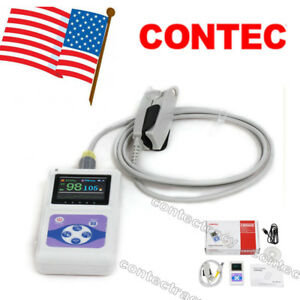Contec Cms60d Pulse Oximeter Oled Fingertip Spo2 Oxygen Heart Rate Monitor Sw us