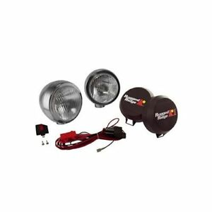 Rugged Ridge Hid Off Road Lights 35w Round 6 Dia Clear Lens 1520651