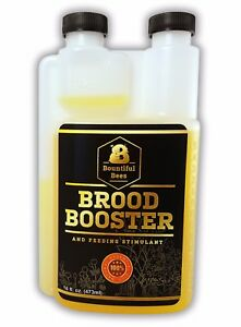 Brood Booster 16 Oz Honey Bee Feeding Stimulant Easy Measure Spout