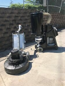 Htc 800 Concrete Grinder With Htc 86d Dust Extraction System