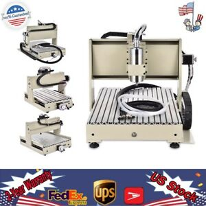 Usb parallel 3 4axis Cnc Router Engraver Drill 3d Mach3 300w 400w 800w 1 5kw Usa