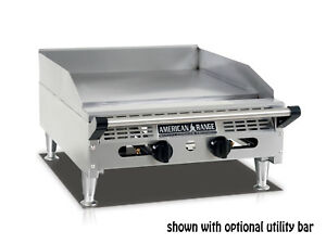 American Range Aemg 24 24 rdquo Heavy Duty Manual Griddle With Stainless Steel