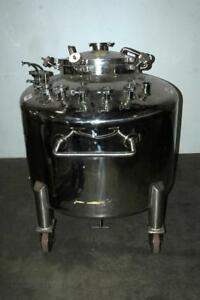 Lee 500 L Portable Stainless Steel Tank Vessel Reactor Sanitary 30 Psi 300f