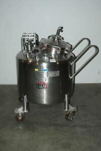 Lee 250 L Portable Stainless Steel Tank Vessel Reactor Sanitary 35 Psi 275f