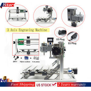 3 Axis Mini 3018 Cnc Router Engraver Machine Mill Wood Grbl Control Er11 a Shaft