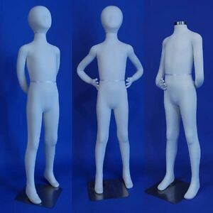 New Totally Flexible And Bendable Arms And Legs K10 sw Kid Mannequin In White