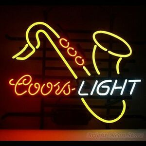 Coors Light Saxhorn Neon Sign For Store Beer Bar Pub Real Neon Light Custom Z570