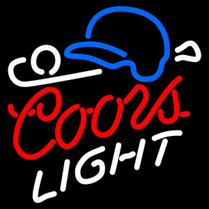 Coors Light Baseball Neon Sign Display Beer Bar Pub Real Neon Light Custom Z474
