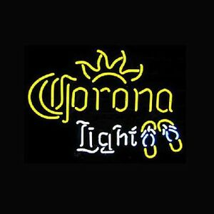 Corona Light Neon Sign Display Store Beer Bar Pub Real Neon Light Custom Z068