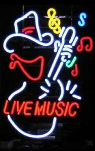 Live Music Light Neon Sign Display Store Rock Bar Pub Garage Real Neon Light 183
