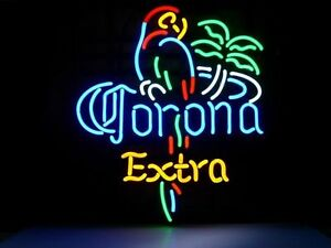 Corona Extra Parrot Neon Sign Store Display Beer Bar Sign Real Neon Custom Z094