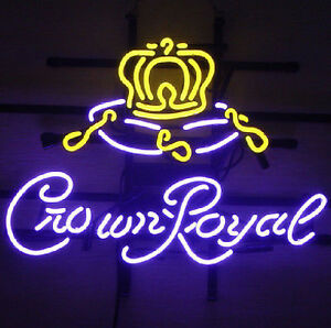 Crown Royal Neon Sign Display Bar Garage Pub Club Real Neon Light Custom Z155
